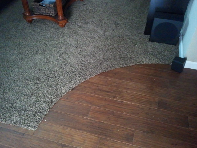 Carpet Transition To Curved Wood